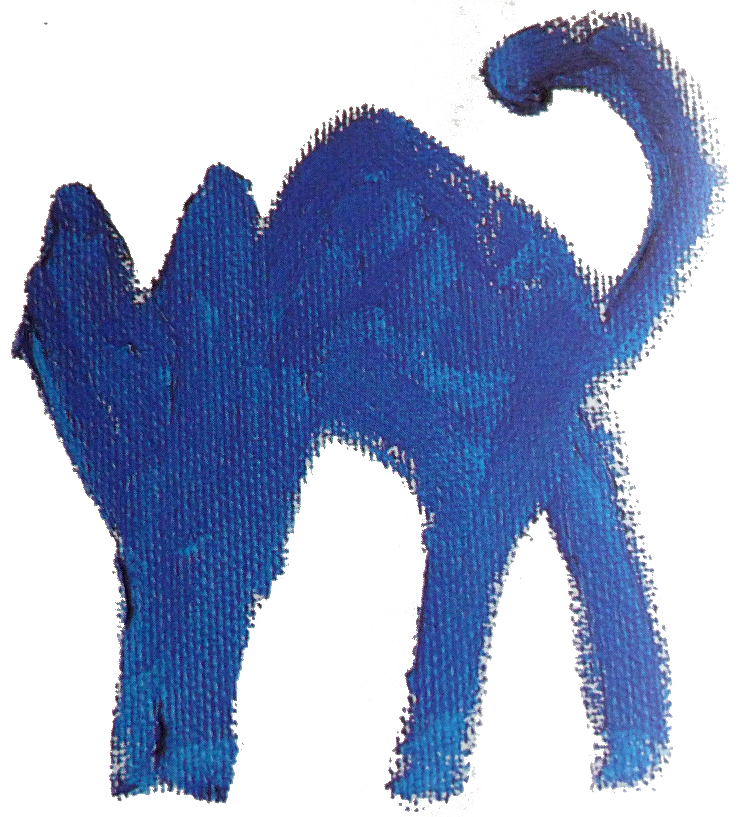 chat bleu abstrait