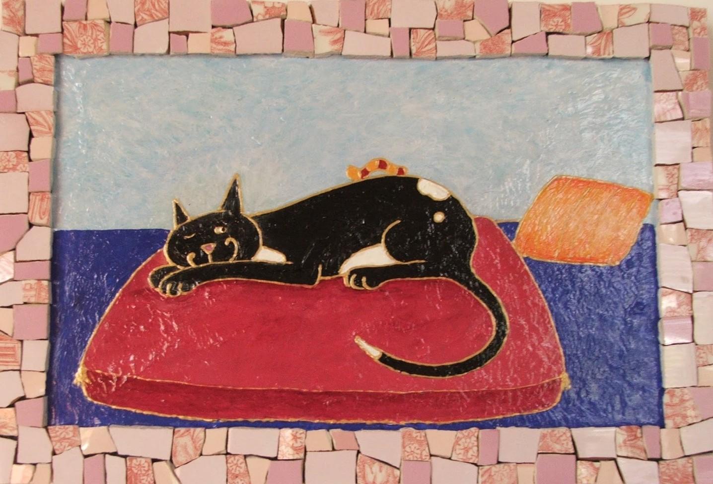 chat mosaïque (S. Peugniez)